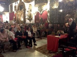 fray Valentí en la Capilla de San José (Sevilla), durante la presentación.